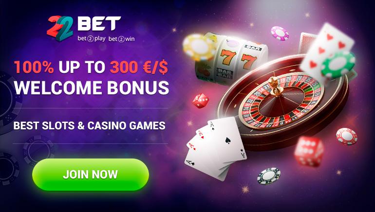 22 Bet Casino - Get 100% up to €/$300 Welcome Bonus